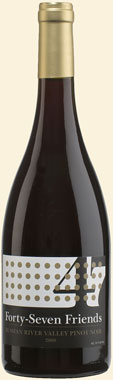 Photo of 47 Friends Sonoma County Pinot Noir 2010
